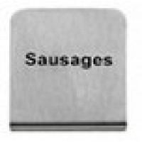 SAUSAGES - BUFFET SIGN