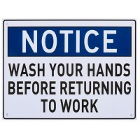 Wash Hands before you work Sign