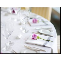 Round White Tableclothes