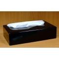 Black Plastic Rectangle Tissue Box