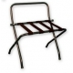 Deluxe Satin Black Luggage Rack