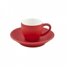 Intorno Espresso Cup 85ml and Saucer Set - Rosso