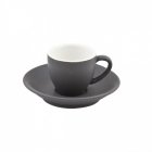 Intorno Espresso Cup 85ml and Saucer Set- Slate