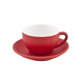 Intorno Capuccino Cup 200 ml and Saucer Set - Rosso