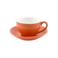 Intorno Capuccino Cup 200 ml and Saucer Set- Jaffa