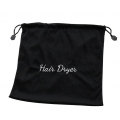 Black Velour Hair Dryer Bag