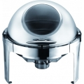 Deluxe Round Roll-Top Chafer with Visible Glass