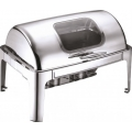 Delux Rectangular Roll Top Chafer with Visible Glass