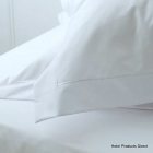 King Tailored White Percale  Pillowcase