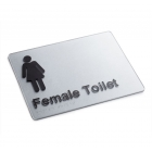 Silver Braille Sign - Female Toilet