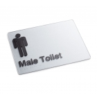 Silver Braille Sign - Male Toilet